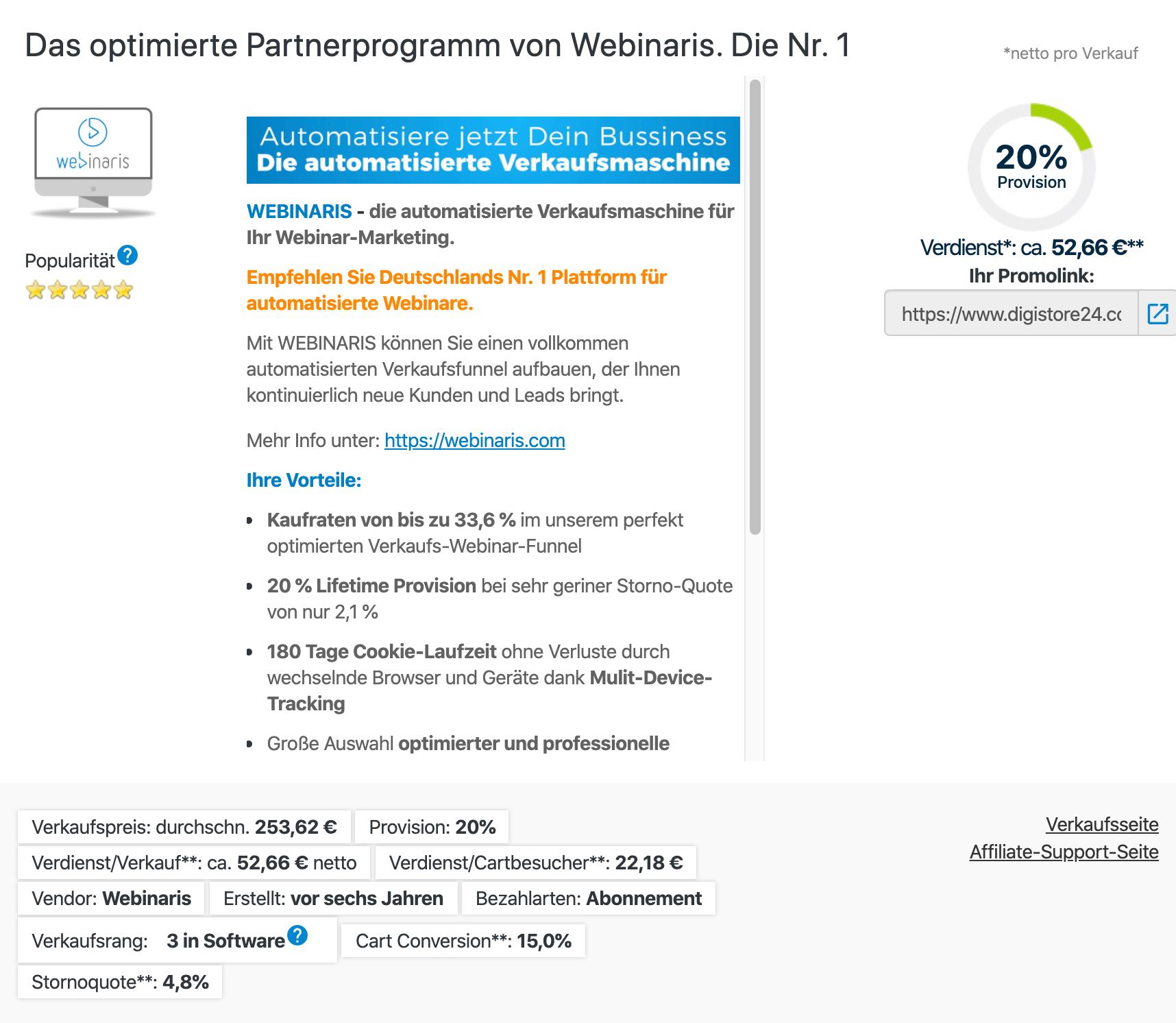 Webinarispartnerprogramm