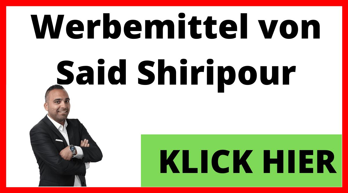 Werbemittel von Said Shiripour