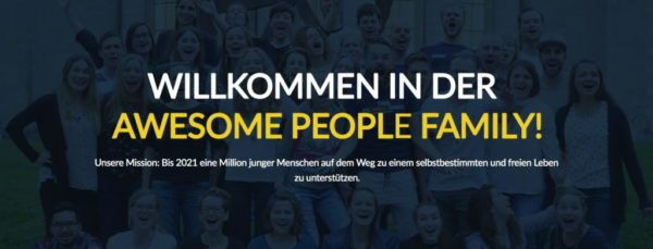 Partnerprogramm von AWESOME PEOPLE FAMILY