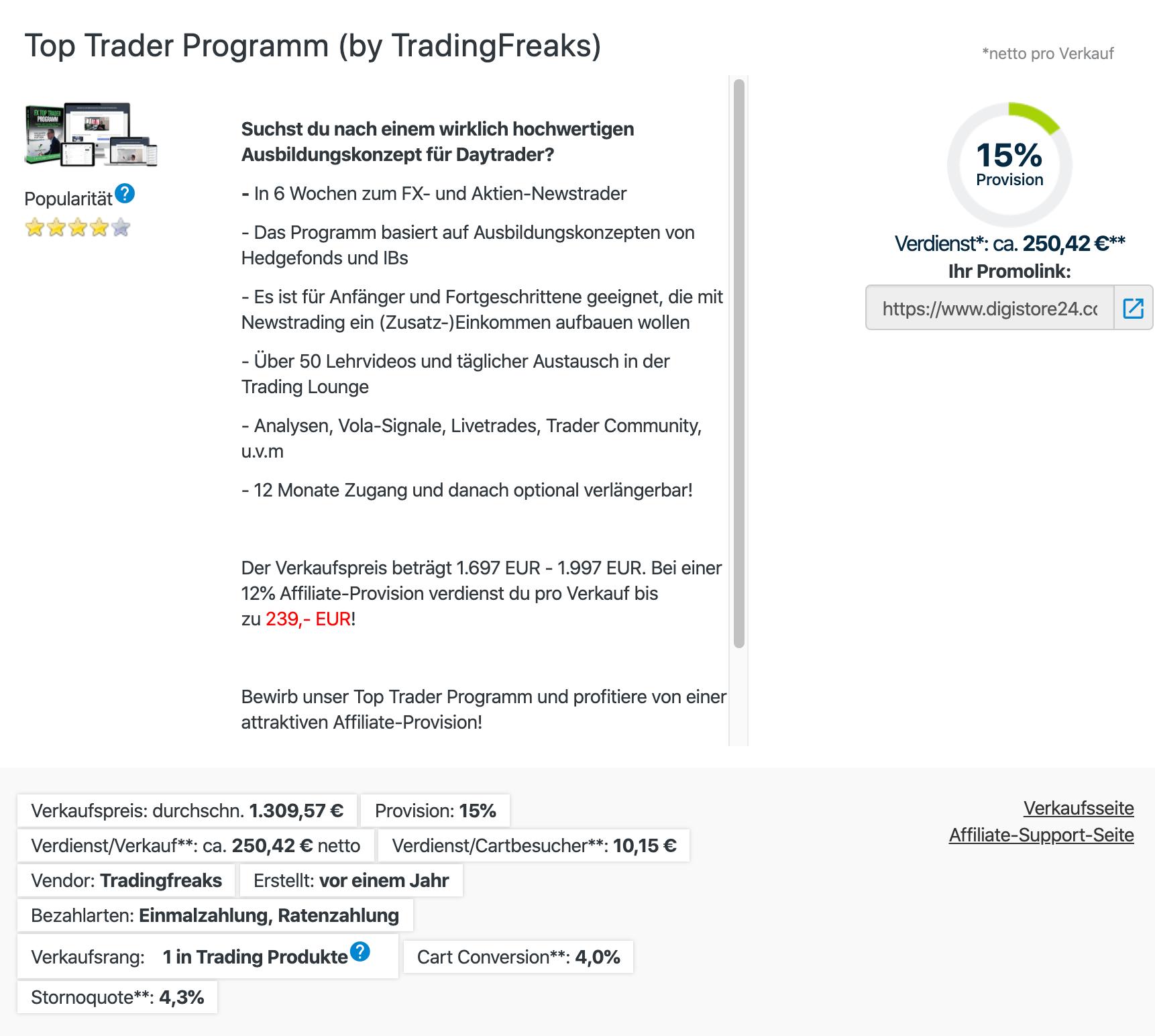 TradingFreaksPartnerprogramm