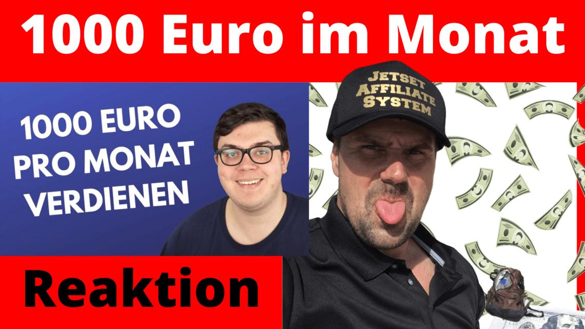 1000 Euro im Monat verdienen