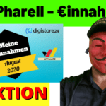 Flo Pharell August 2020 Einnahmen - Digistore24, Affiliate Marketing, YouTube