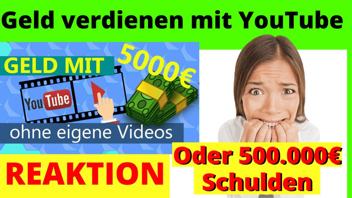 Geld verdienen YouTube