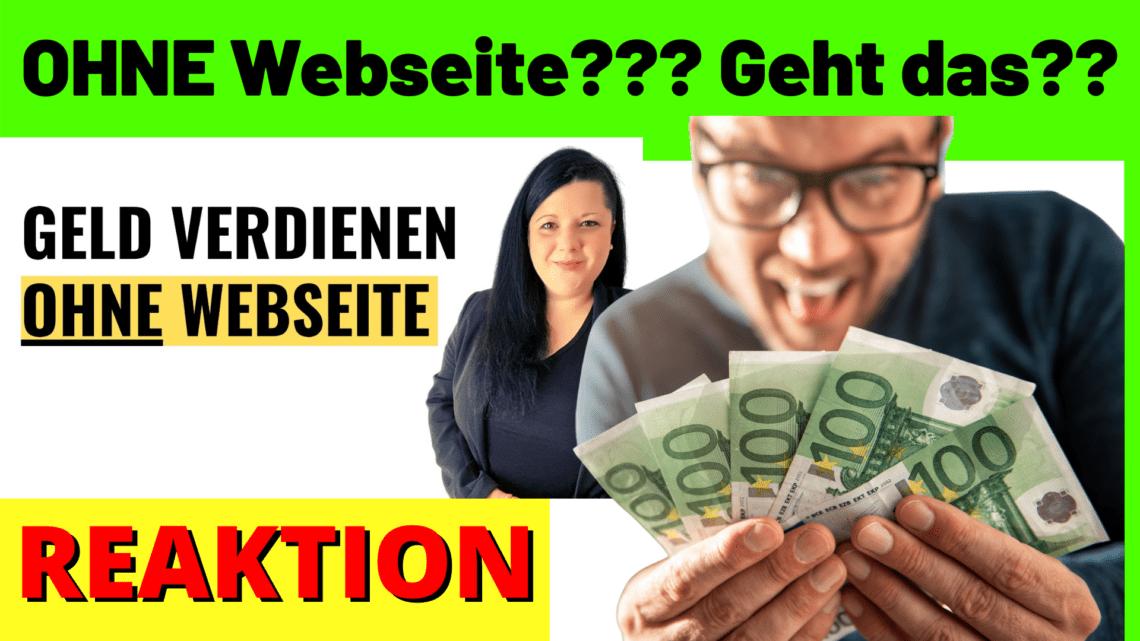 Geld verdienen als Affiliate OHNE Webseite