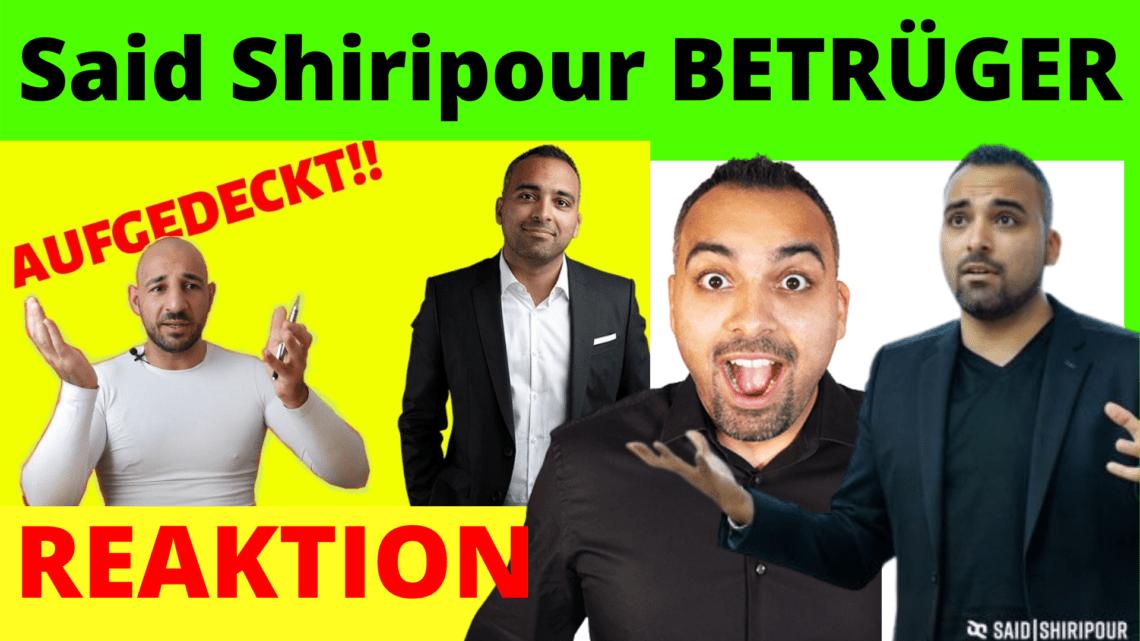 Said Shiripour BETRÜGER