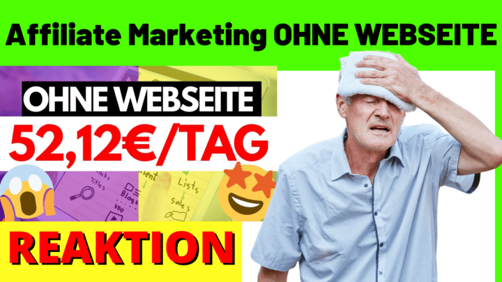 Affiliate Marketing OHNE WEBSEITE
