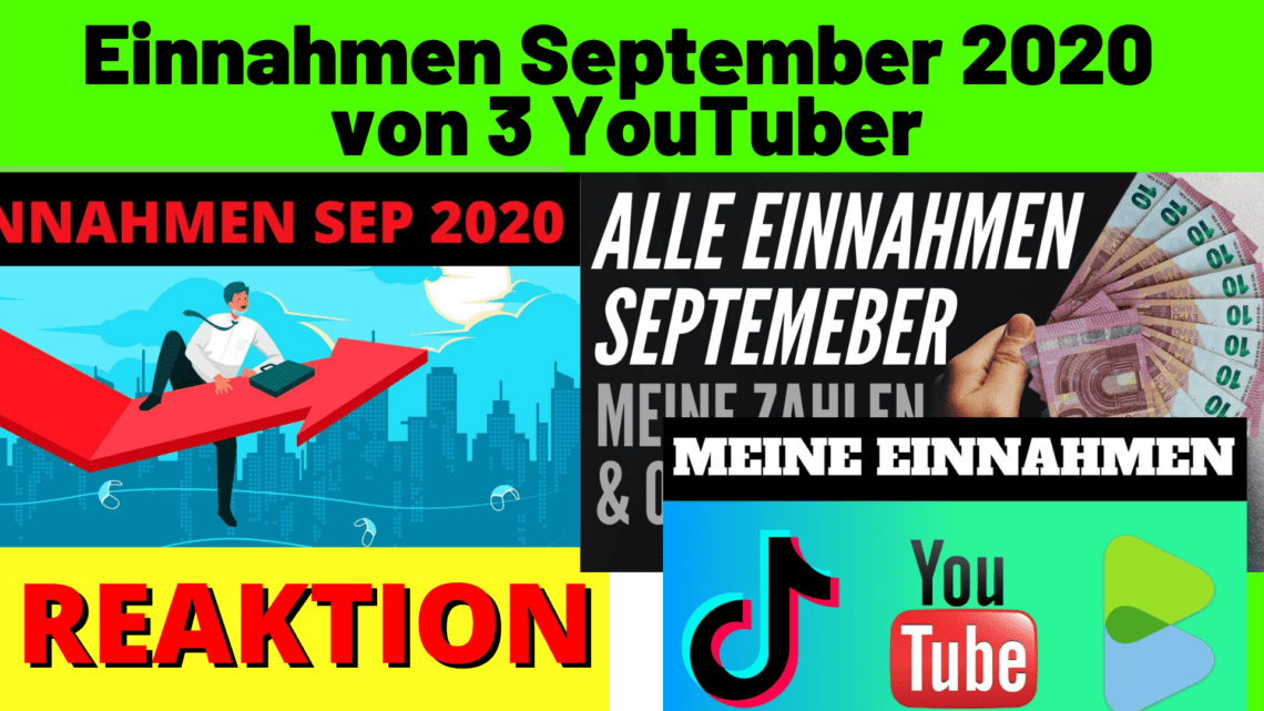 Einnahmen September 2020