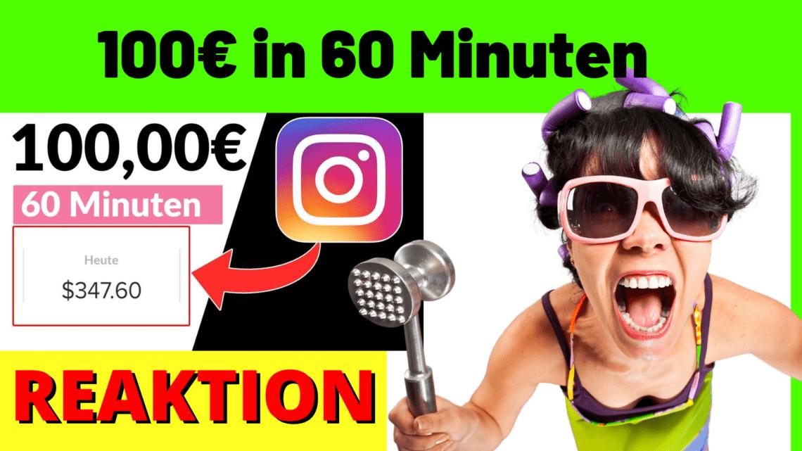 100euro in 60 Minuten mit Instagram Verdienen
