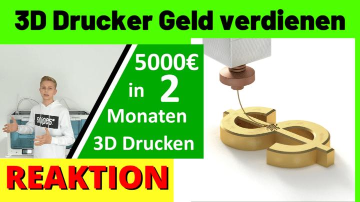 3D Drucker Geld verdienen
