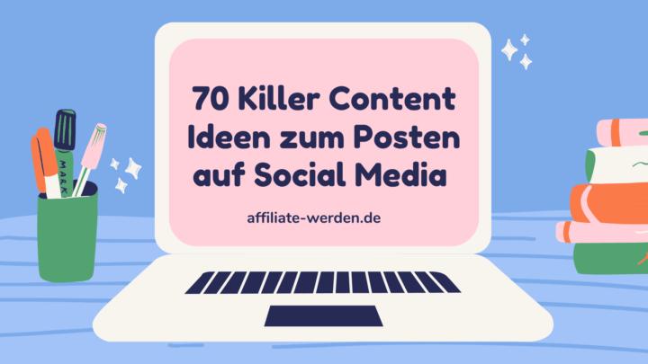 Content Ideen zum Posten auf Social Media