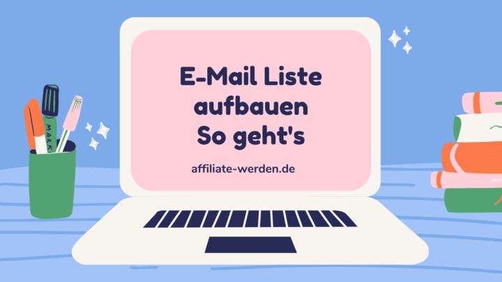 E Mail Liste aufbauen