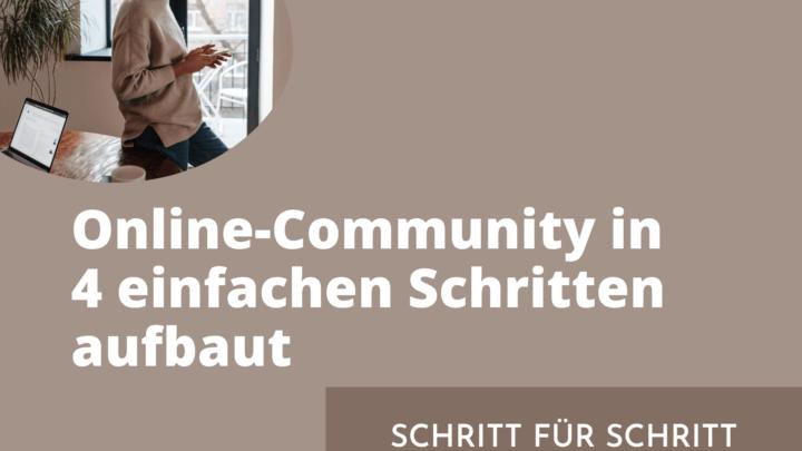 OnlineCommunityaufbaut
