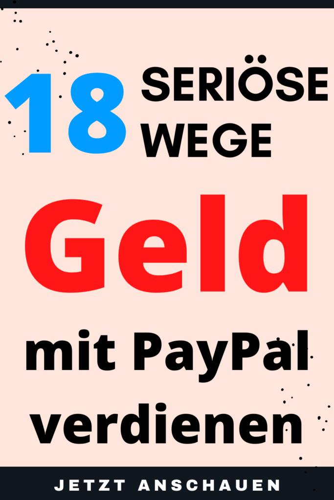 geld mit PayPal verdienen