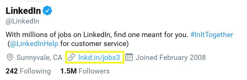 linked link