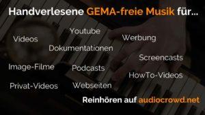 audiocrowd GEMAfreie Musik