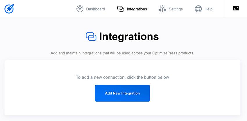 optimizepress dashboard plugin add integration