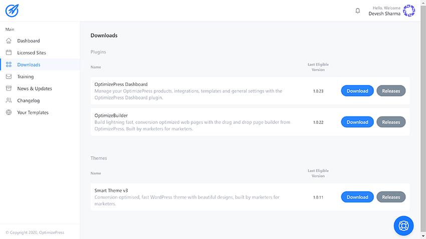optimizepress downloads