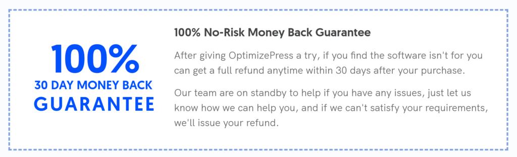 optimizepress money back guarantee