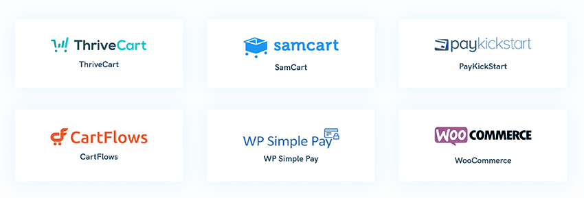 optimizepress supported shopping carts