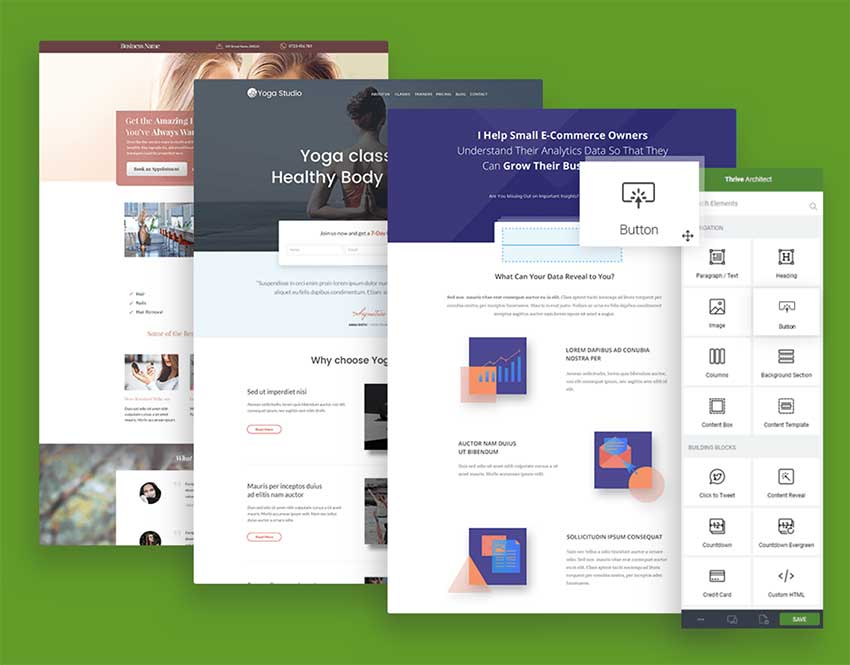 thrivearchitect landing pages